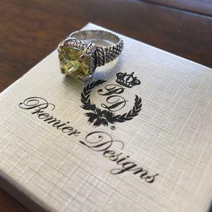 Premier Designs Citrine ring Size 8